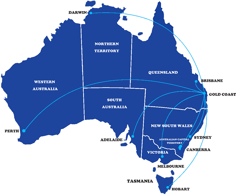 Deliver Australia Wide to all Major Cities