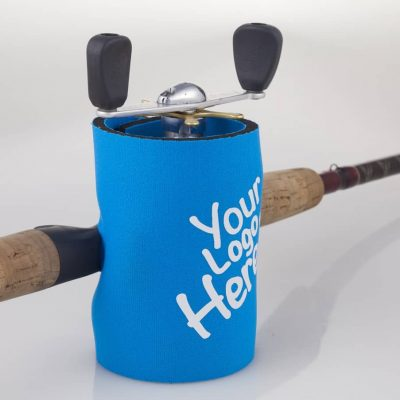 Fishing reel cover/stubby cooler with base