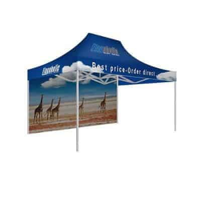 Printed Marquee / Printed Canopy With Back Wall