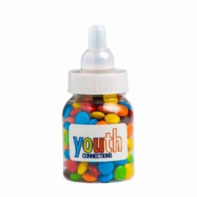 Baby Bottle Filled with Mini M&Ms
