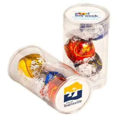 Pet Tube with Lindt Balls x3