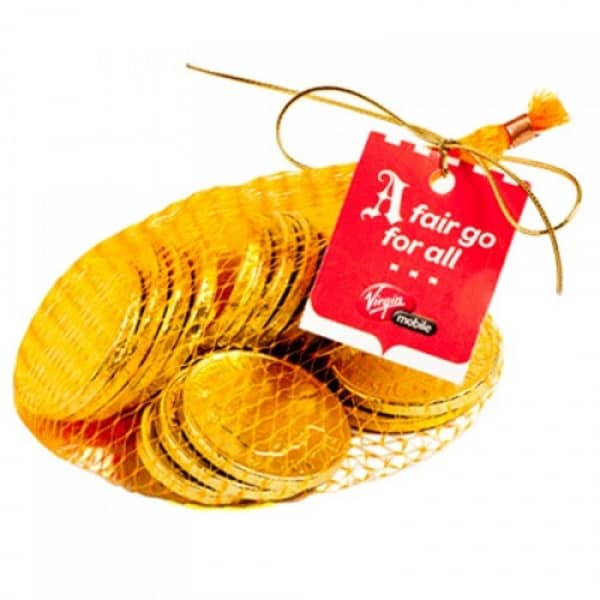 80g Chocolate Coins in Mesh Bag