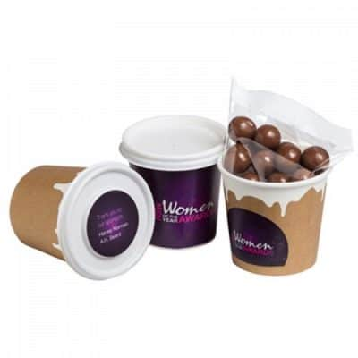 Coffee Cup With Choc Coated Coffee Beans