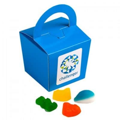Coloured Noodle Box with Mixed Lollies