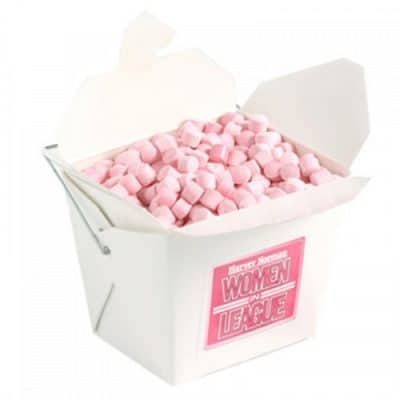 White Cardboard Noodle Box with Mints or Musks