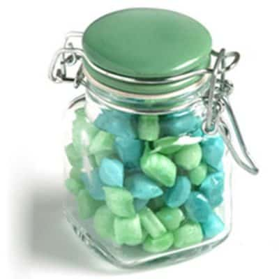 Glass Clip Lock Jar with Humbugs 80g