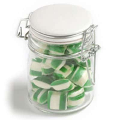 Glass Clip Lock Jar with Humbugs 160g