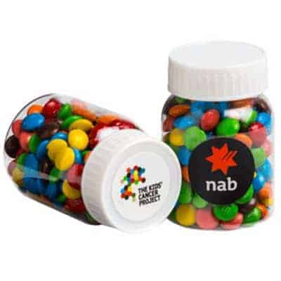 Baby Jar with Mini M&Ms