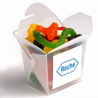 Frosted Noodle Box with Mixed Lollies